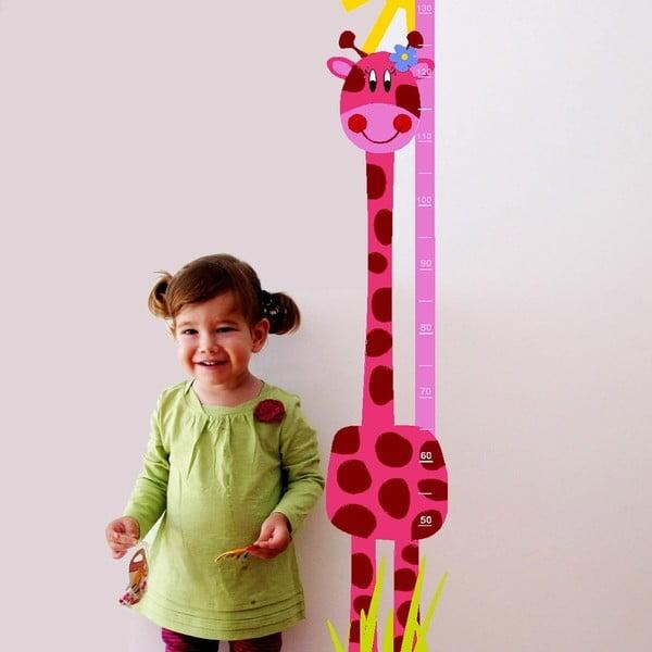 Pink Giraffe rózsaszín falmatrica