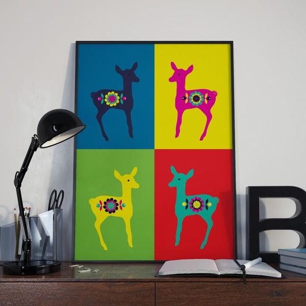 Plakát Srnkdy Warhol červená, střední