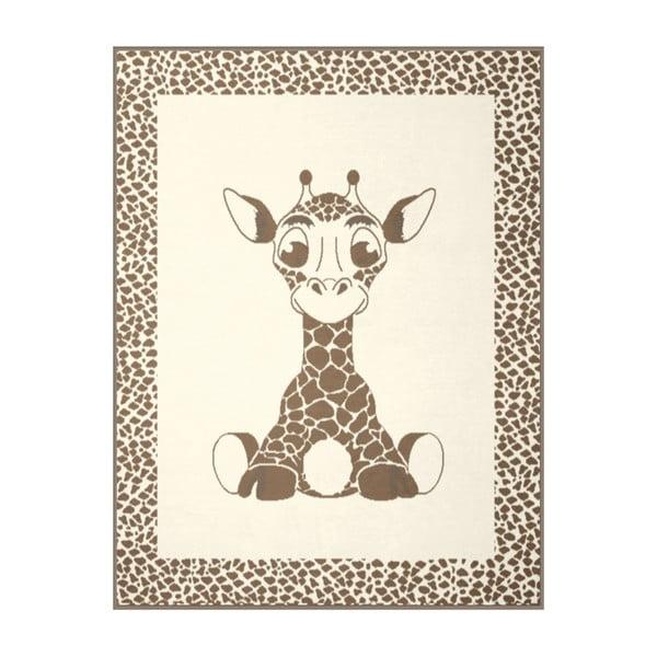 Dětská deka Giraffe Beige, 75x100 cm
