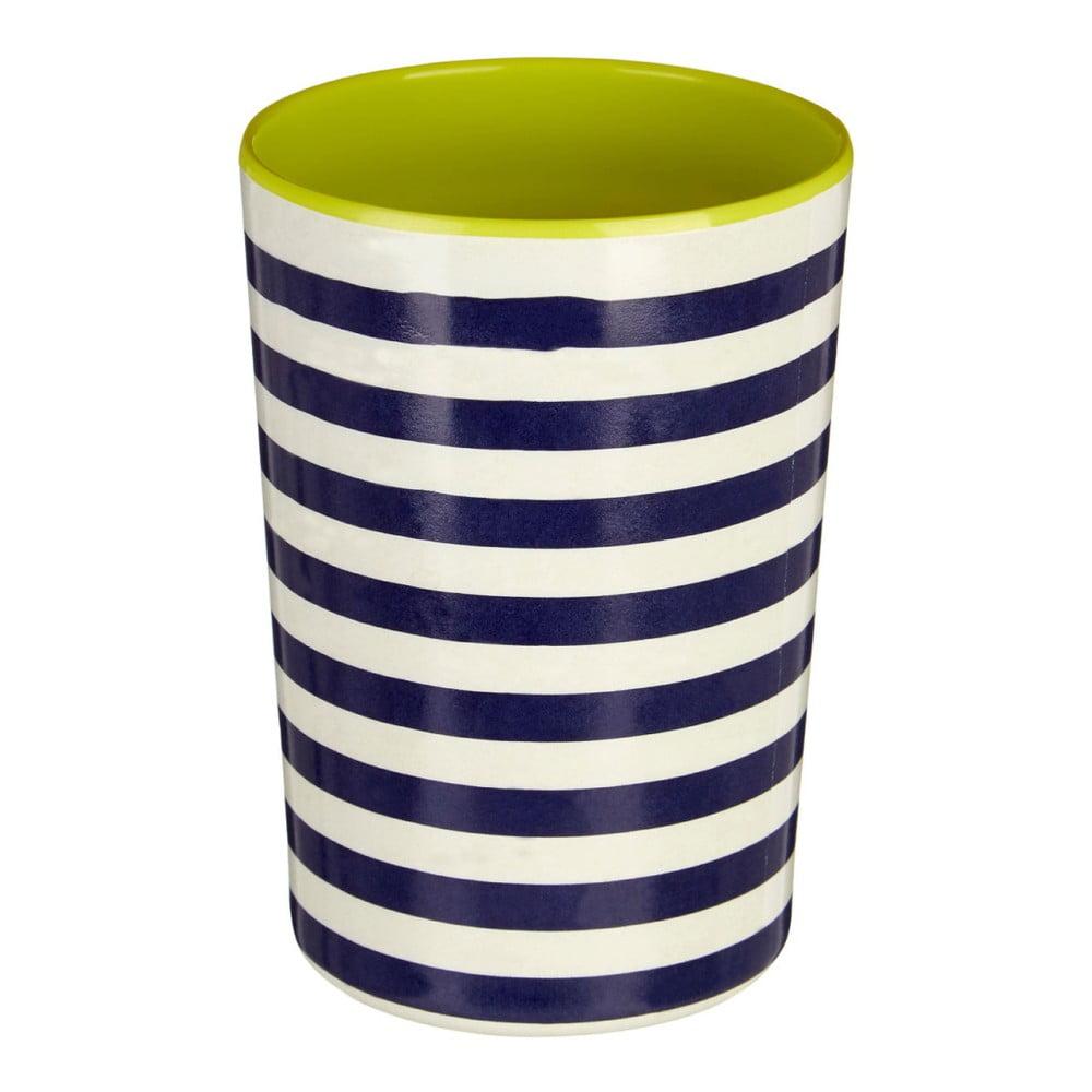 Modro-bílá pruhovaná nádoba na kuchyňské nástroje Premier Housewares Mimo, 340 ml