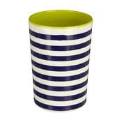 Modro-bílá pruhovaná nádoba na kuchyňské nástroje Premier Housewares Mimo,340ml