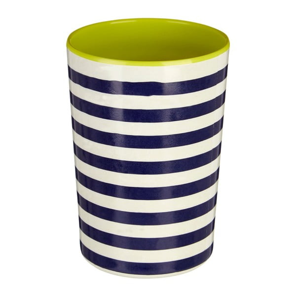 Pahar Premier Housewares Mimo, 340 ml, albastru-alb