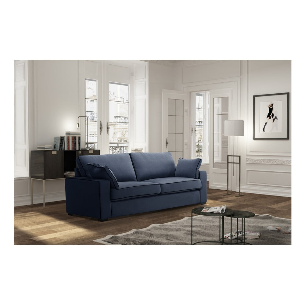 canapea cu 3 locuri jalouse maison serena bleumarin bonami. Black Bedroom Furniture Sets. Home Design Ideas