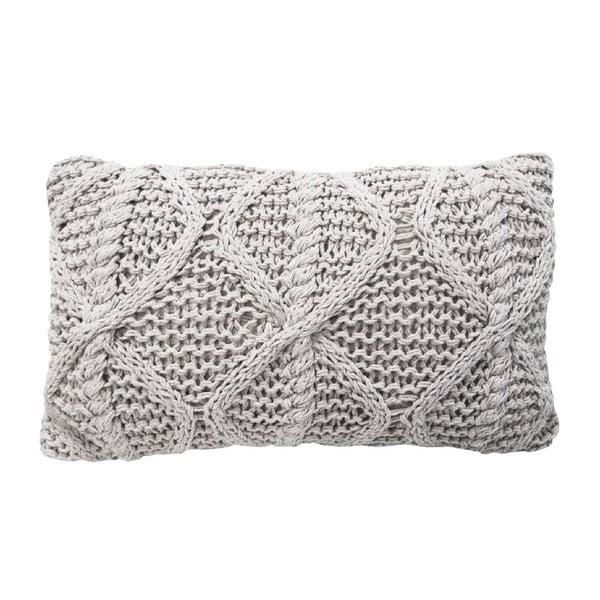 Krémový pletený polštář OVERSEAS Diamond,30x50cm