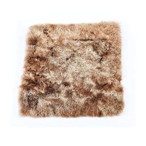 Pernă din blană cu fir scurt pentru scaun Eglé, 37 x 37 cm, maro