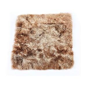 Hnědý kožešinový podsedák s krátkým chlupem Arctic Fur Eglé, 37x37cm