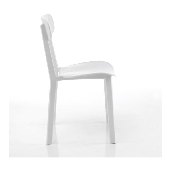 Sada 4 bílých jídelních židlí Tomasucci Mara