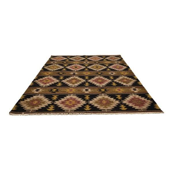 Ručně tkaný koberec Black Brown Patterns, 140x200 cm