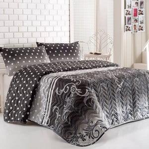 Sada přehozu přes postel a polštáře Buse Grey, 160x220 cm