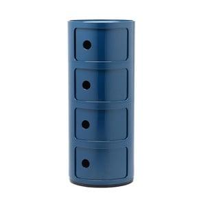 Modrý kontejner se 4 zásuvkami Kartell Componibili