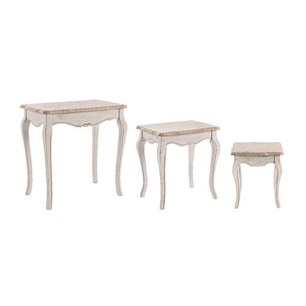 Set 3 stolků Whiteness