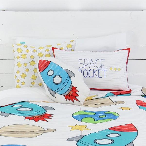 Dětské bavlněné povlečení na peřinu a polštář Mr. Fox Space Rocket, 140x200cm