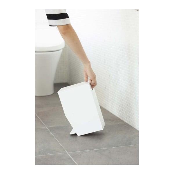 Bílý odpadkový koš do koupelny YAMAZAKI,390ml