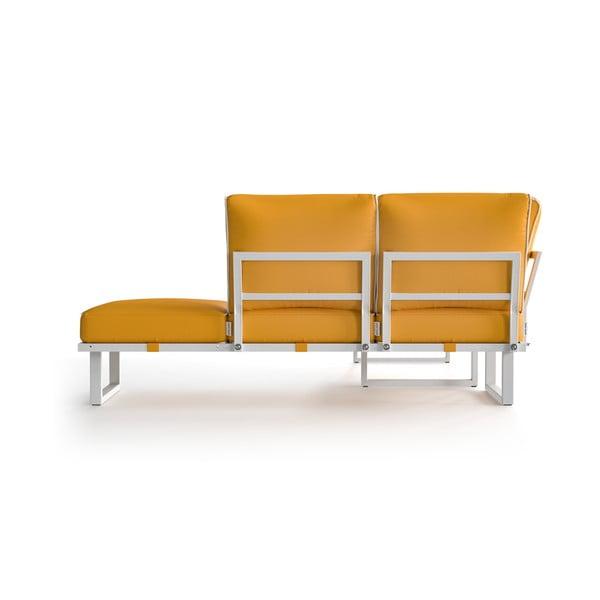 Žlutá rohová pohovka s bílým lemem Marie Claire Home Angie