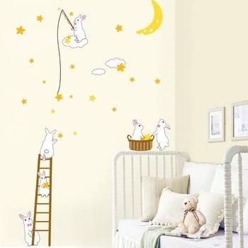 Autocolant Rabbit and Stars