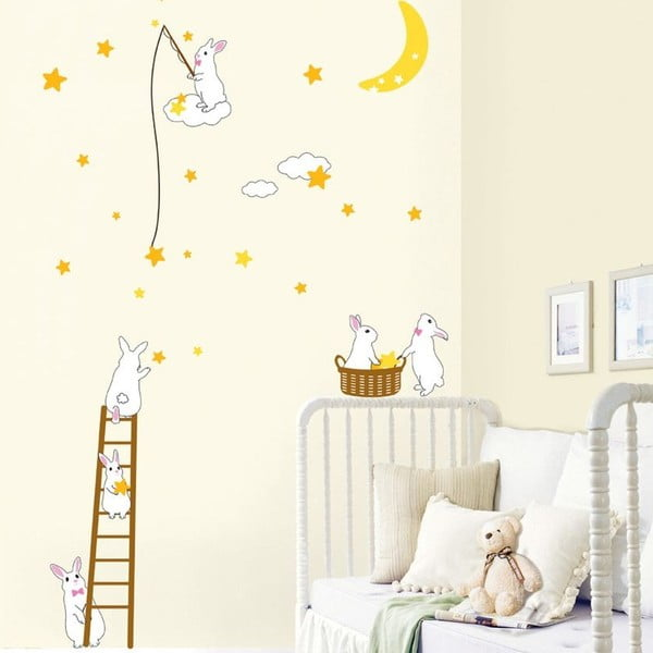 Autocolant Rabbit and Stars