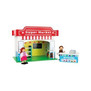Supermarket din lemn pentru copii Legler Playhouse Supermarket de la Legler