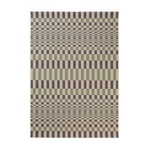 Modrý koberec vhodný do exteriéru Veranda Rhytml, 170 x 120 cm