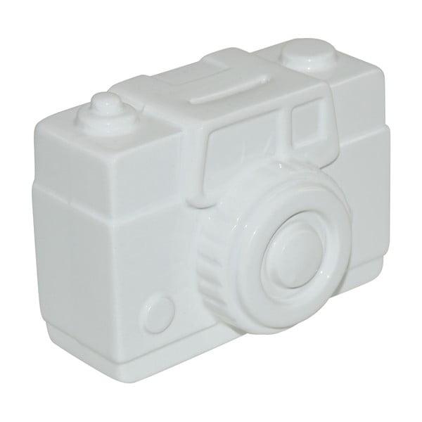 Krabička na peníze Camera, bílá