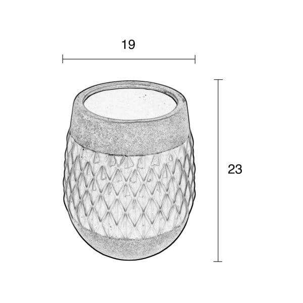 Keramická váza Zuiver Nito Moss, výška23cm