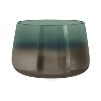 Vază din sticlă PT LIVING Oiled, înălțime 10 cm, verde de la PT LIVING
