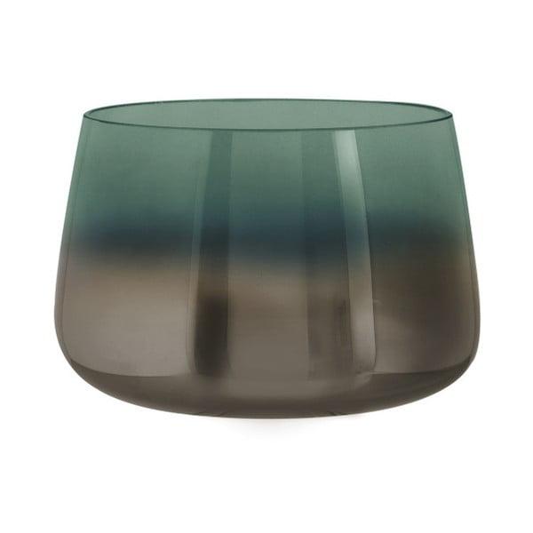 Vază din sticlă PT LIVING Oiled, înălțime 10 cm, verde
