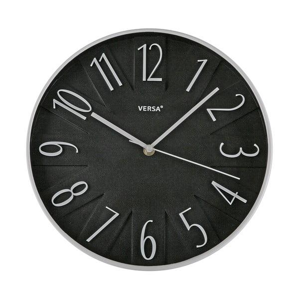 Nástěnné hodiny Versa Black, 30 cm