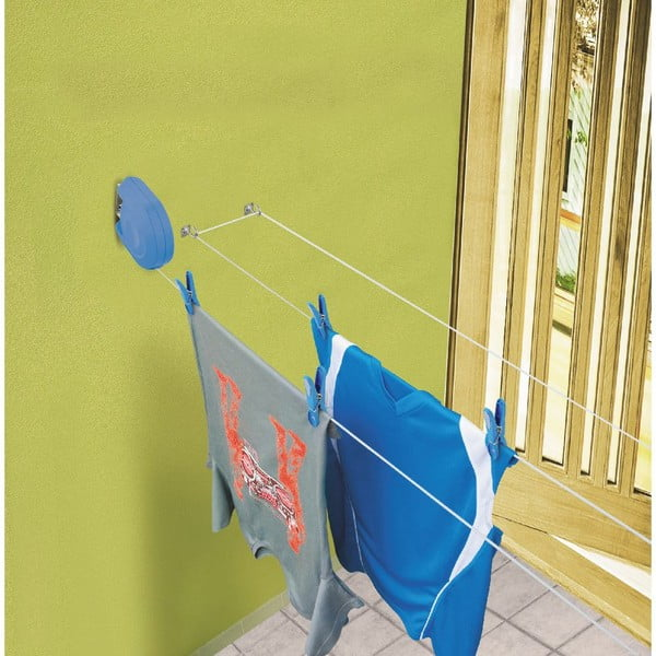 Modrá zatahovací šňůra na prádlo Bonita Delight