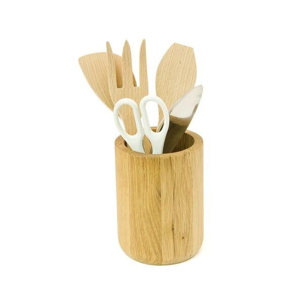 Stojan na kuchyňské náčiní z dubového dřeva Wireworks Utensils Pot