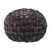 Černý puf Kare Design Olivio, ⌀50cm