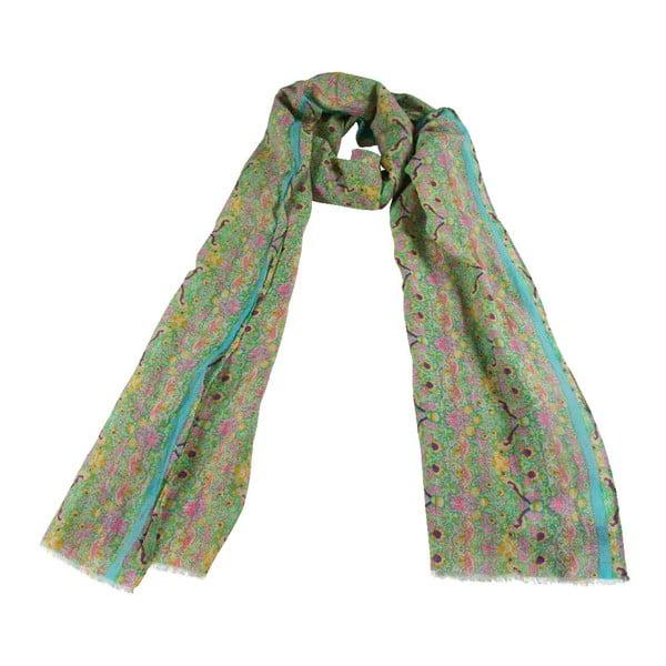 Šátek s příměsí hedvábí Shirin Sehan Luna Grass