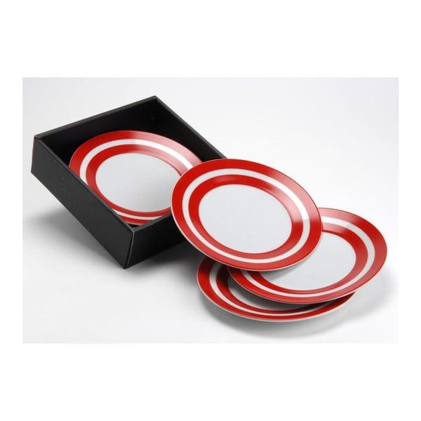Sada dezertních talířů Red Stripe, 19 cm, 6 ks