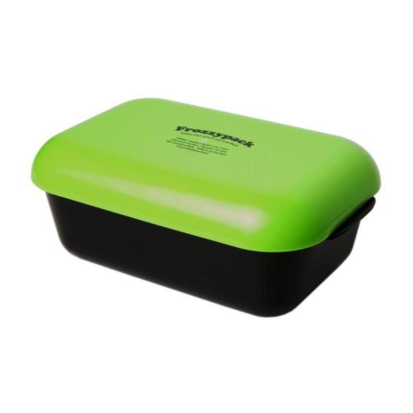 Chladící svačinový box Frozzypack Original, black/green