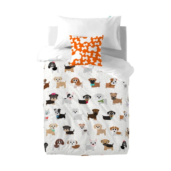 Dogs gyermek pamut ágynemű- és párnahuzat, 140 x 200 cm - Mr. Fox