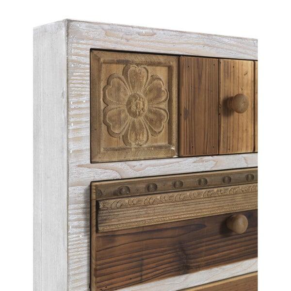 Noptieră cu detalii albe și 3 sertare Geese Rustico Puro, 48,5 cm x 65 cm