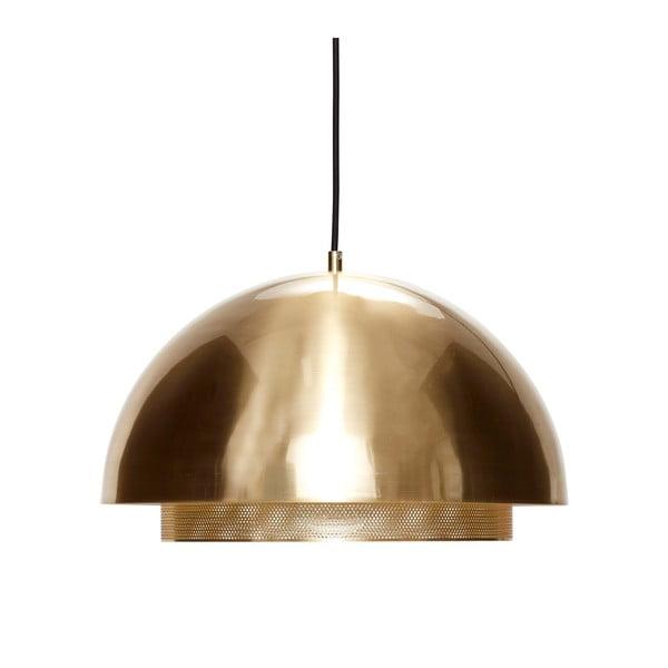 Závesné svietidlo v zlatej farbe Hübsch Muno