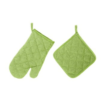 Set mănușă și șervet termic Unimasa, verde imagine