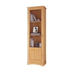Dulap cu vitrină din lemn masiv de pin Støraa Yvonne, înălțime 180 cm
