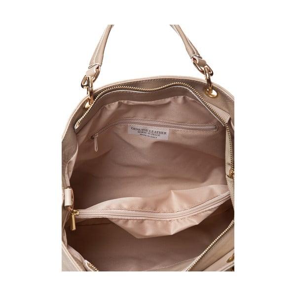 Kožená kabelka Ema, světle béžová
