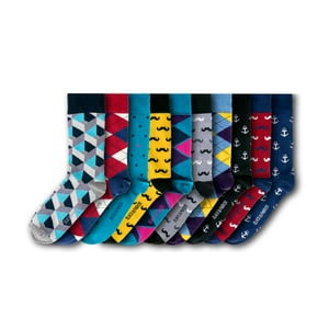 Sada 10 párů ponožek Black&Parker London Brixton, vel.37-43
