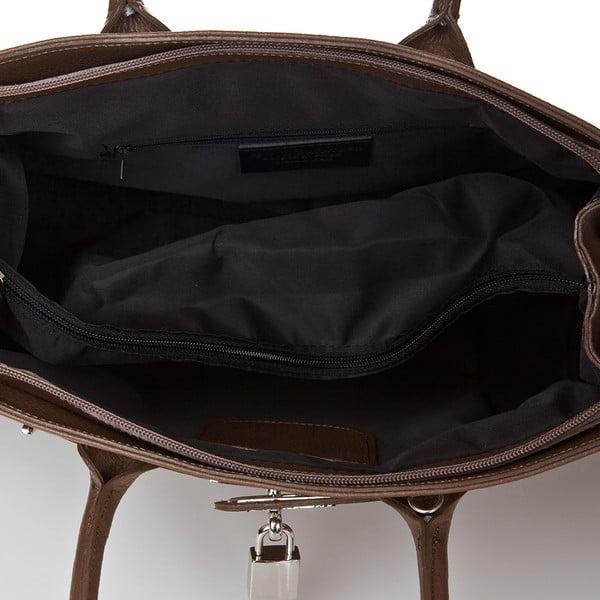 Béžová kožená kabelka Giorgio Costa Perugia