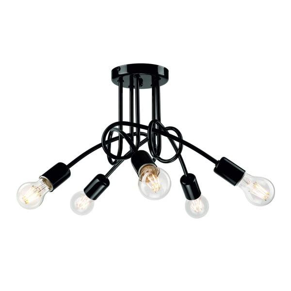 Černé závěsné svítidlo pro 5 žárovek Lamkur Camilla