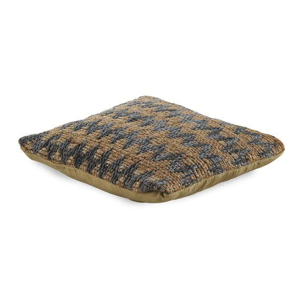 Modro-hnědý polštář s výplní Geese Mumbai, 45x 45 cm