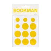Sada 12 žlutých samolepících odrazek Bookman