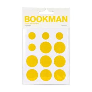 Set 12 buline reflectorizante autoadezive Bookman, galben
