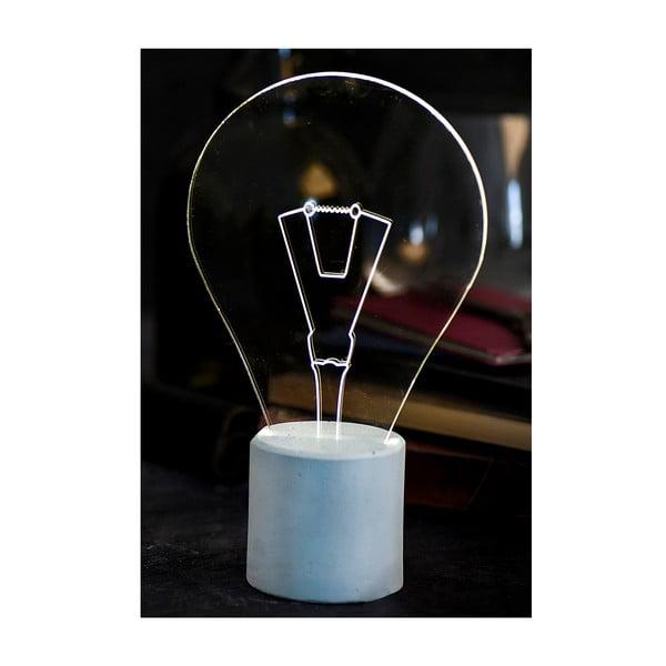 Náladové světlo Bulb, modrý podstavec