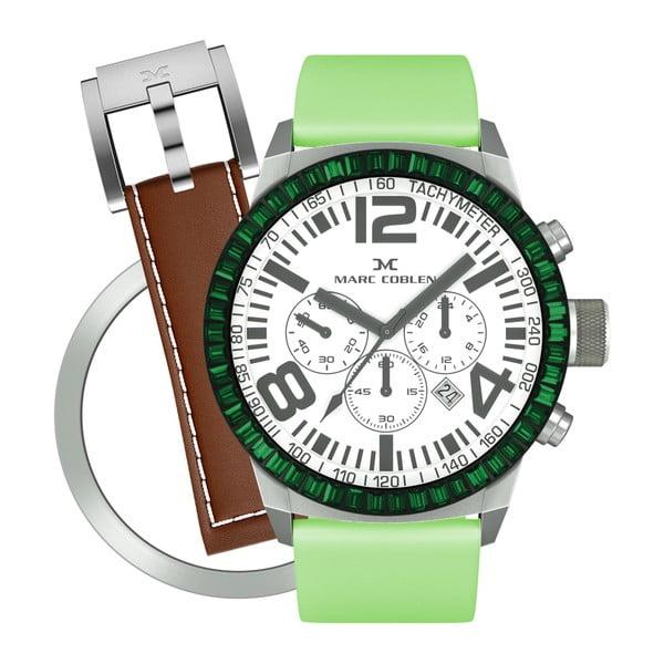Dámské hodinky Marc Coblen s páskem a kroužkem navíc P73