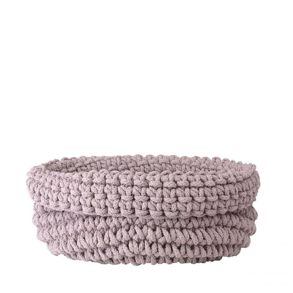 Růžový pletený bavlněný košík Blomus, ø38cm
