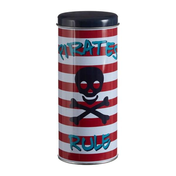 Recipient rotund din tablă Premier Housewares Pirate, Ø 8 x 18 cm