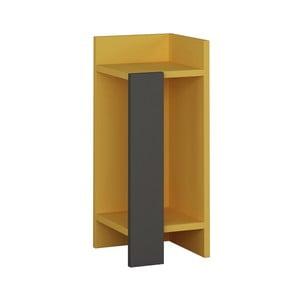 Žlutý noční stolek Homitis Yorker